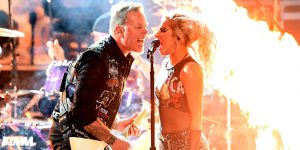 Metallica Performs with Lady Gaga (Getty)
